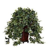 Nearly Natural® Vining Puff Ivy with Decorative Vase Silk Plant