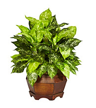 Nearly Natural® Variegated Dieffenbachia with Large Hexagon Silk Plant