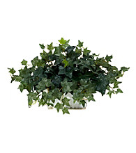 Nearly Natural® Ivy with White Wash Planter Silk Plant