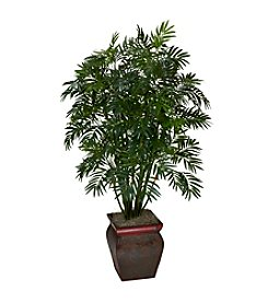 Nearly Natural® Mini Bamboo Palm with Decorative Vase