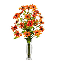 Nearly Natural® Cosmos with Vase Silk Flower Arrangement