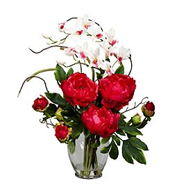 Nearly Natural® Peony & Orchid Silk Flower Arrangement