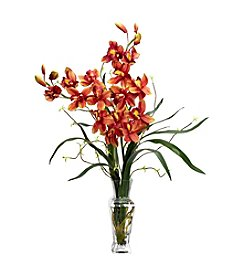 Nearly Natural® Cymbidium Silk Flower Arrangement