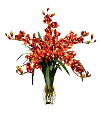 Nearly Natural® Cymbidium Orchid Silk Flower Arrangement