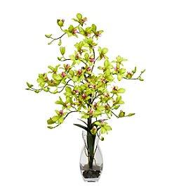 Nearly Natural® Dendrobium with Vase Silk Flower Arrangement