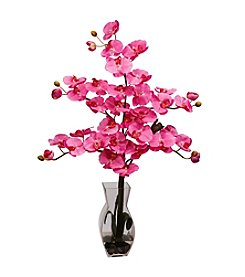 Nearly Natural® Phalaenopsis with Vase Silk Flower Arrangement