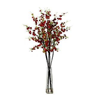 Nearly Natural® Cherry Blossoms with Vase Silk Flower Ar