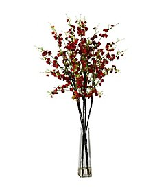 Nearly Natural® Cherry Blossoms with Vase Silk Flower Arrangement