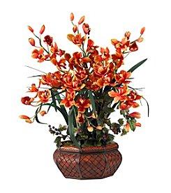 Nearly Natural® Large Cymbidium Silk Flower Arrangement