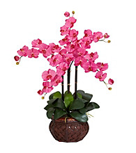 Nearly Natural® Phalaenopsis with Decorative Vase Silk Flower Arrangement
