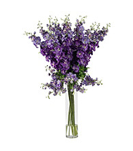 Nearly Natural® Delphinium Silk Flower Arrangement