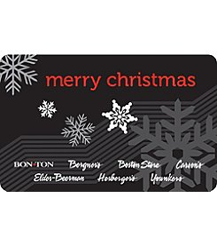 Gift Card - Merry Christmas snowflakes