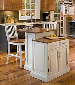 Home Styles® Wilmington White Oak Two-Tier Kitchen Island Collection