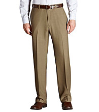 Haggar® Men's Classic Fit Flat Front Repeve Dress Pant