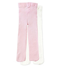 Cuddle Bear® Baby Girls' 2-pk. Pink/Ivory Microfiber Tights