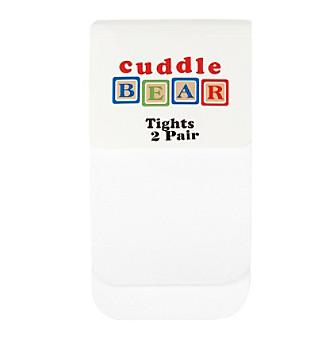 Cuddle Bear® Baby Girls' White 2-pk. Microfiber Tights