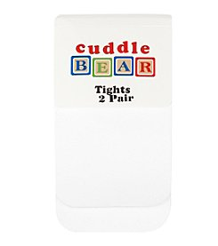 Cuddle Bear® Baby Girls' White 2-pk. Microfiber Tights