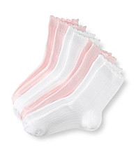 Miss Attitude Girls' 4-pk. Pink/White Crew Socks