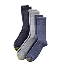 GOLD TOE® Men's Denim 3-Pack Uptown Crew Socks