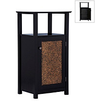 Elegant Home Fashions® Buckingham Floor Cabinet - 1 Door/1 Open Shelf - Dark Espresso