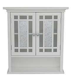 Elegant Home Fashions® Windsor Wall Cabinet - Two-Doors / One-Shelf - White