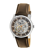 Kenneth Cole New York® Mens Round Automatic Dial Brown Strap