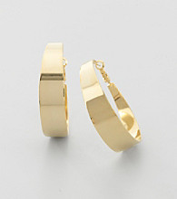 Vince Camuto™ Goldtone Wedding Band Hoop Earrings