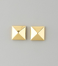 Vince Camuto™ Polished Goldtone Pyramid Button Stud Earrings