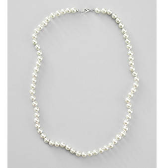 "Studio Works® 24"", 8mm White Pearl Necklace"