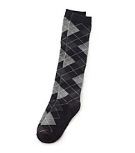 Relativity® Argyle Knee-High Socks