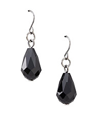 BT-Jeweled Pear Facet Drop Earrings
