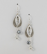 Silver Forest® Silvertone Oval-Shape Earrings