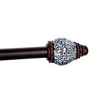 Elegant Home Fashions® Eileen Adjustable Window Rod with Silver Mosaic Finials
