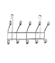 Elegant Home Fashions® 5 Hook Over the Door - Clear Acrylic Jewel/Chrome