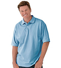 Canyon Ridge® Men's Big & Tall Solid Pique Polo