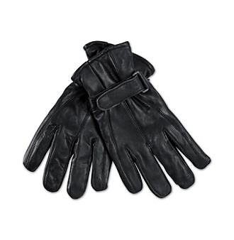 Men's Big & Tall Black Leather Gloves