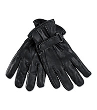 Men's Big & Tall Black Leather Gloves