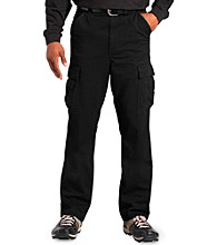 555 Turnpike™ Men's Big & Tall Black Twill Cargo Pants