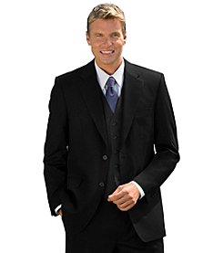 Oak Hill® Men's Big & Tall Black Continuous Comfort™ Suit Coat