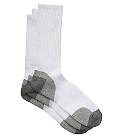 Harbor Bay® Men's Big & Tall 3-pk Balance Point™ Continuous Comfort™ Crew Socks