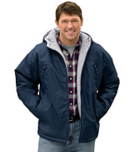 Harbor Bay® Men's Big & Tall Navy Hooded Fleece-Lined Jacket
