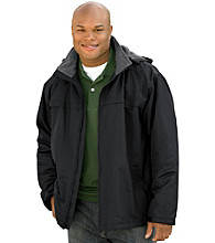 Harbor Bay® Men's Big & Tall Black Hooded Squall Jacket