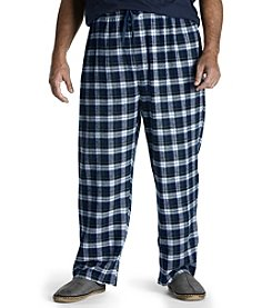 Harbor Bay® Men's Big & Tall Plaid Flannel Lounge Pants