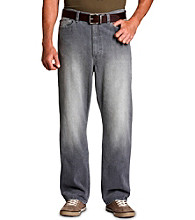 True Nation® Men's Big & Tall Gray Relaxed-Fit Jeans