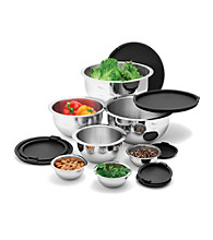 Wolfgang Puck® 14-pc. Stainless Steel Mixing Bowl Set - Black