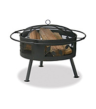UniFlame® Aged Bronze Outdoor Firebowl with Leaf Design