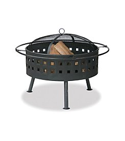 UniFlame® Aged Bronze Outdoor Firebowl with Lattice Design