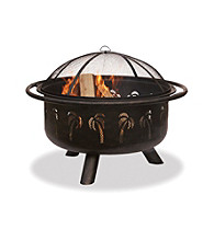 UniFlame® Oil-Rubbed Bronze Outdoor Firebowl with Palm Tree Design