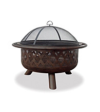 UniFlame® Oil Rubbed Bronze Outdoor Firebowl with Lattice Design
