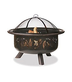 UniFlame® Oil-Rubbed Bronze Outdoor Firebowl with Swirl Design